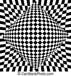 checkered, achtergrond., surrealistisch, contrasty, abstract...