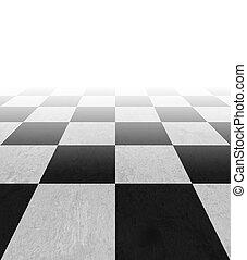checkered, achtergrond, vloer, model, in, perspectief
