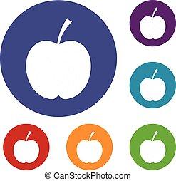 Checkered apple icons set