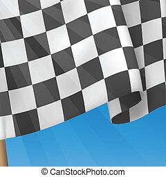 checkered, arrière-plan., drapeau, vecteur, template., carte