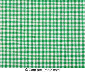 Checkered green cloth background