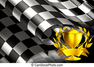 Checkered Background horizontal with cup, 10eps