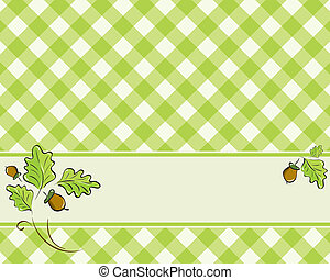 checkered background in a light gre