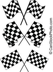 checkered, bandeiras