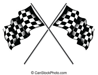 checkered, bandiere