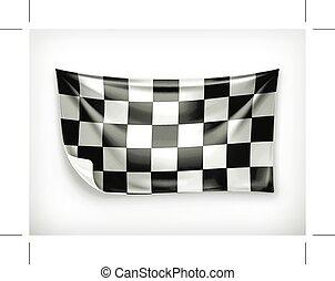Checkered banner illustration