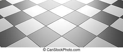 checkered, bannière, plancher, illustration, modèle, intérieur, template., vide, 3d