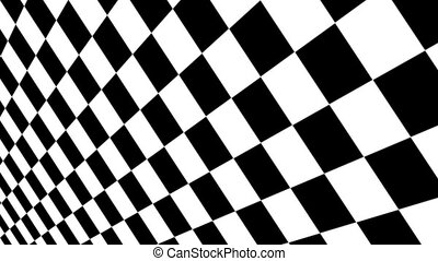 Checkered black and white Motion Background