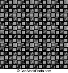 Checkered black seamless pattern