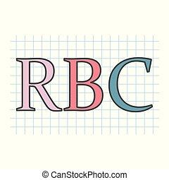 checkered, blatt, akronym, cell), (red, papier, blut, rbc