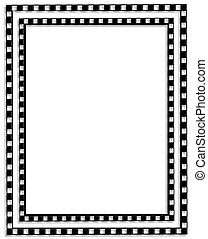 simple checkered border in black and white for background, template or frame with copy space.