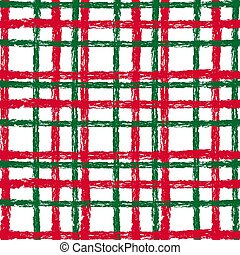 Checkered christmas grunge pattern