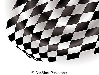 checkered corner