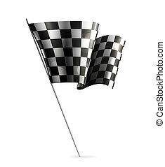 checkered, eps10, 旗