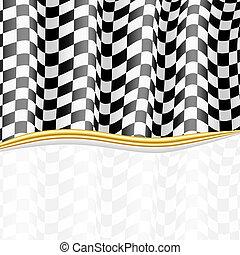 checkered, eps10, flag., arrière-plan., vecteur, courses