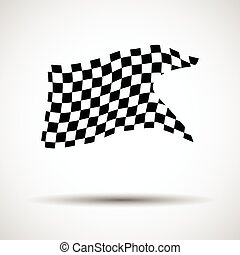checkered, eps10, illustration., bandeira, vetorial, fundo, correndo
