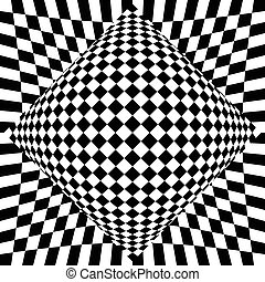 checkered, experiência., surreal, contrasty, abstratos, ...