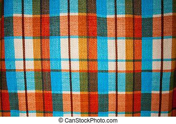 Checkered fabric closeup