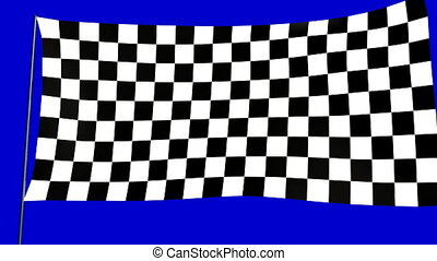 checkered flag A - checkered flag animation