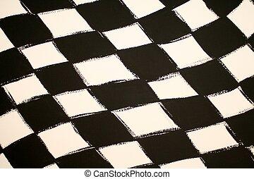 Checkered Flag - A detail of a checkered flag.