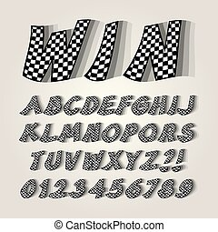 Checkered Flag Alphabet