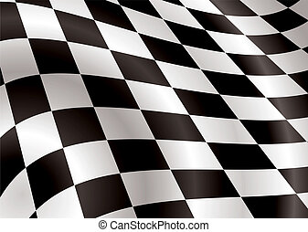 checkered flag bellowing in the wind ideal background image