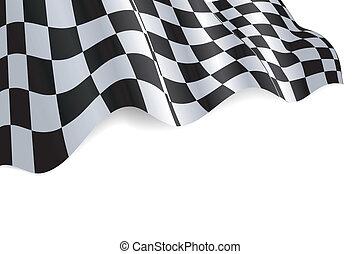 Checkered Flag - Checkered black and white flag background...
