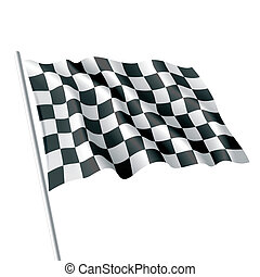 Checkered flag - Vector illustration of checkered flag