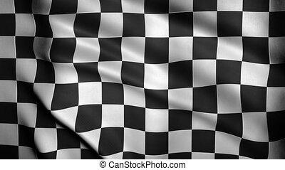 Checkered Flag Close-up.
