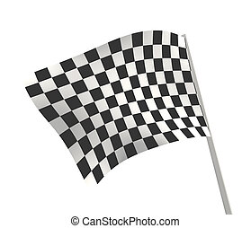 Checkered flag - Sports background - an abstract checkered...