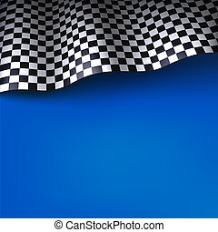 Checkered flag.  background with space for your text