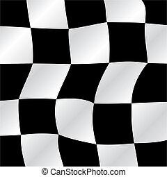 Checkered flag waving background, vector illustration