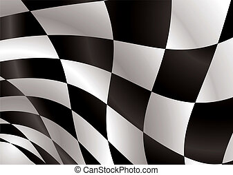 checkered flag float - Black and white checkered flag being...