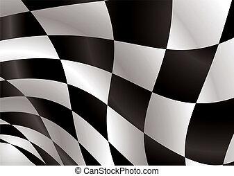 checkered flag float