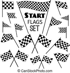 Checkered flag icons