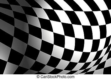 Checkered flag illustration