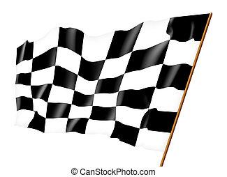 Checkered flag. Illustration
