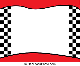 Checkered Flag Invitation Backgroun