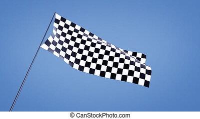 checkered flag animation low angle