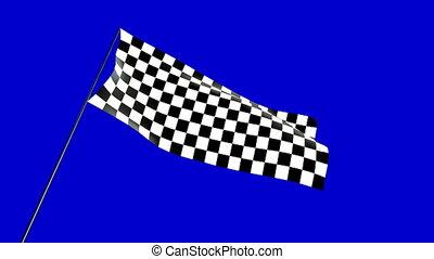 checkered flag low angle  - checkered flag animation