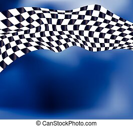 checkered flag race background vect