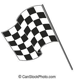 checkered flag racing. Stock vector illustration. Clip art