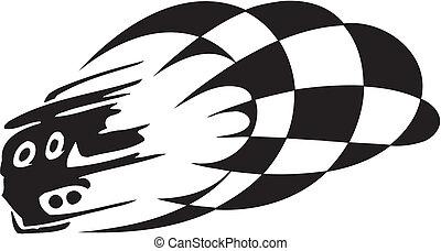 Checkered flag - symbol racing