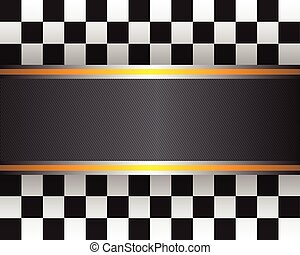Checkered flag template vector background