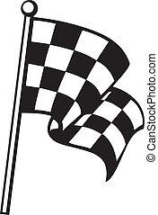 checkered flag (racing checkered flag, finishing checkered...