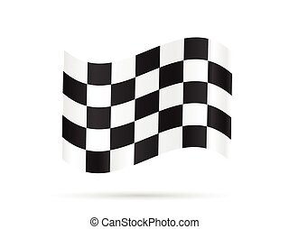Checkered Flag - Illustration of a checkered flag isolated...