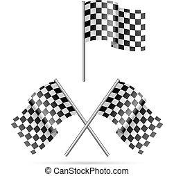checkered flag black&white