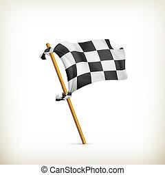 Checkered flag, vector