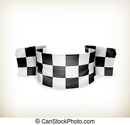 Checkered flag, vector