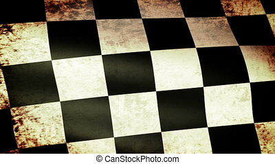 Checkered Flag Waving, grunge